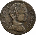 1786 Vermont copper. Ryder-9, W-2040. Rarity-3. Baby Head. VF Detail, Scratch (PCGS).