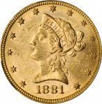 1881 Liberty Head Eagle. MS-62 (PCGS).