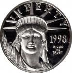 1998-W One-Ounce Platinum Eagle. Proof-69 Ultra Cameo (NGC).