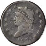 1808 Classic Head Cent. S-278. Rarity-3. Good-6 (PCGS).