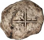 COLOMBIA. 8 Reales, (1)64(6)-NR. Santa Fe de Nuevo Reino (Bogota) Mint. Philip IV (1621-65). FINE.