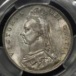 GREAT BRITAIN Victoria ヴィクトリア(1837~1901) 1/2Crown 1888 PCGS-MS64 UNC+