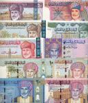 Central Bank of Oman, a group of 10 notes, complete set of 4 notes from the series of 2000 consisti