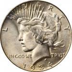 1934-S Peace Silver Dollar. MS-65 (PCGS).
