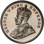 BRITISH INDIA: George V, 1910-1936, 8 annas, 1920(c), KM-520, Bombay mint proof restrike, with origi