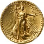 MCMVII (1907) Saint-Gaudens Double Eagle. Saint Gaudens. High Relief. Wire Rim. MS-60 (NGC).
