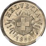 SUISSE Confédération Helvétique (1848 à nos jours). 5 rappen 1850.