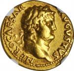 NERO, A.D. 54-68. AV Aureus (7.22 gms), Rome Mint, ca. A.D. 65-68.