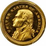 1903 Louisiana Purchase Exposition Gold Dollar. Jefferson Portrait. Proof-66+ Cameo (PCGS).