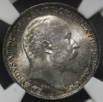 GREAT BRITAIN Edward VII エドワード7世(1901~10) 6Pence 1906 NGC-MS64 UNC+