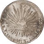 MEXICO. 8 Reales, 1884-Pi MH. San Luis Potosi Mint. NGC MS-63+.