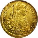 COLOMBIA. 1818-FM 8 Escudos. Popayán mint. Ferdinand VII (1808-1833). Restrepo M128.31. MS-62 (PCGS)