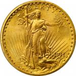 1911 Saint-Gaudens Double Eagle. MS-66+ (PCGS). CAC.