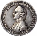 Undated (1784) Captain James Cook Memorial Medal. Silver. 42 mm. By L. Pingo. Betts-553, BHM-258, Ei