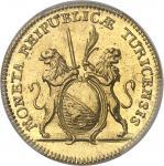 SUISSE Zurich (canton de). 2 ducats 1776.