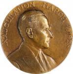 1925 Calvin Coolidge Inaugural Medal. Bronze. 70 mm. Dusterberg CIM-B70, MacNeil CC-1925-3. Specimen