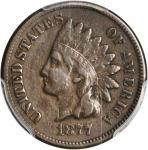 1877 Indian Cent. VF-25 (PCGS). CAC.