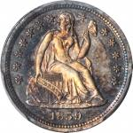 1859 Liberty Seated Dime. Proof-66 (PCGS).