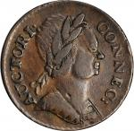 1785 Connecticut Copper. Miller 3.4-F.1, W-2340. Rarity-3. Mailed Bust Right. EF-40 (PCGS).