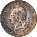 ARGENTINA. 50 Centavos, 1883. NGC MS-64.