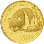 1987年熊猫纪念金币1/2盎司 完未流通
