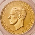 オーストラリア (Australia) エドワード8世像 ファンタジーメダル 1クラウン金メダル 1937年 リードエッジタイプ KMXM15c.1 / Edward VIII 1 Crown Gol