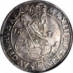AUSTRIA. Taler, 1575. Joachimsthal Mint. Maximilian II (1564-76). NGC EF-40.