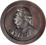 1800 (ca. 1860) Captain Thomas Truxtun / USS Constellation vs. La Vengeance. Bronzed Copper. 57 mm.
