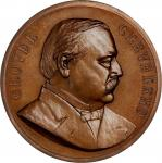 1885 Uniface Grover Cleveland First Term Presidential Medal. Bronzed Copper. 76.4 mm. By Charles E.