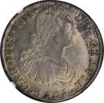 CHILE. 8 Reales, 1808-So FJ. Santiago Mint. Charles IV. NGC AU-58.