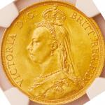 英国 (Great Britain) ヴィクトリア女王像 ジュビリーヘッド 2ポンド金貨 1887年 KM768 / Victoria Jubilee Head 2 Pounds Gold