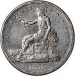 1876-CC Trade Dollar. Type I/II. AU-55 (PCGS).