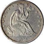 1875-CC Liberty Seated Half Dollar. WB-5. Rarity-3. Repunched Mintmark. EF-45 (PCGS).