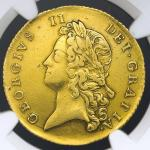 GREAT BRITAIN George II ジョージ2世(1727~60) 2Guineas 1738 NGC-XF DetailsRepaired 肖像面に修正箇所あり VF