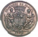 USA Amérique-Canada (colonies françaises), Louis XV (1715-1774). Jeton de Mathurin Bellabre, Maire d