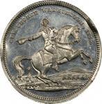 Circa 1860 Equestrian / Tappan Headquarters medal by George H. Lovett. Musante GW-284, Baker-178D. W