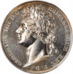 GREAT BRITAIN. George IV Coronation Silver Medal, 1821. London Mint. PCGS SPECIMEN-62 Gold Shield.