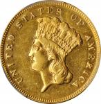 1874 Three-Dollar Gold Piece. AU Details--Cleaned (PCGS).