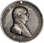 1837 Martin Van Buren Indian Peace Medal. Silver. Small Size. 51 mm. 795.0 grains. Julian IP-19, Pru