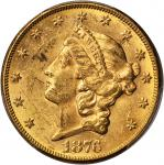 1876-CC Liberty Head Double Eagle. MS-60 (PCGS).