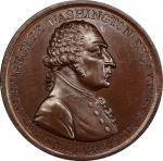 Circa 1800 Westwood medal. First reverse. Musante GW-82, Baker-81. Copper, Bronzed. MS-64+ (PCGS).