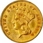 1864 Three-Dollar Gold Piece. MS-62 (PCGS).