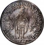 GERMANY. Teutonic Order. 2 Talers, 1614. Maximilian. NGC AU-58.