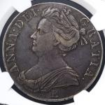 GREAT BRITAIN Anne アン(1702~14) Crown 1707E NGC-XF40 VF+