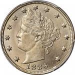 1886 Liberty Head Nickel. MS-66 (PCGS).