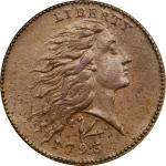 1793 Flowing Hair Cent. Wreath Reverse. S-11C. Rarity-3-. Lettered Edge. AU-58 (PCGS). CAC.