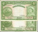 BAHAMAS. Bahamas Government. 4 Shillings, ND. P-13d. Choice Very Fine.
