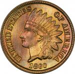 1860 Indian Cent. Rounded Bust. MS-66+ (PCGS). CAC.