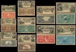 Banco de la Nacion Argentina, complete set of obverse and reverse specimen proofs of the 1895 first