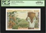 CAMEROON. Banque Centrale. 1000 Francs, ND (1961). P-7s. Specimen. PCGS Gem New 65 PPQ.